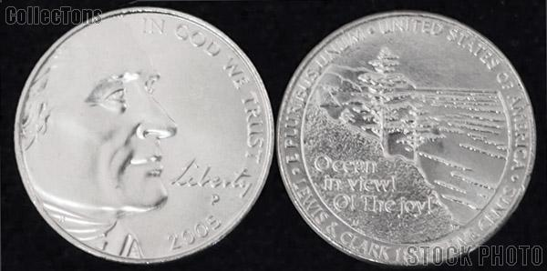 Jefferson Nickel OCEAN VIEW Design from Westward Journey Series (2005) One Coin Brilliant Uncirculated Condition