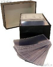 Currency Filing System - Modern Size with Filing Cards, Sleeves, Large Storage Box