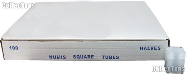 Coin Tube for HALF DOLLARS by Numis Square Plastic Coin Tube for 20 1/2 Dollars