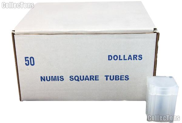 Coin Tube for LARGE DOLLARS by Numis Square Plastic Coin Tube for 20 Large Dollars