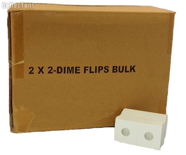 5,000 2x2 Cardboard Coin Holders DIMES