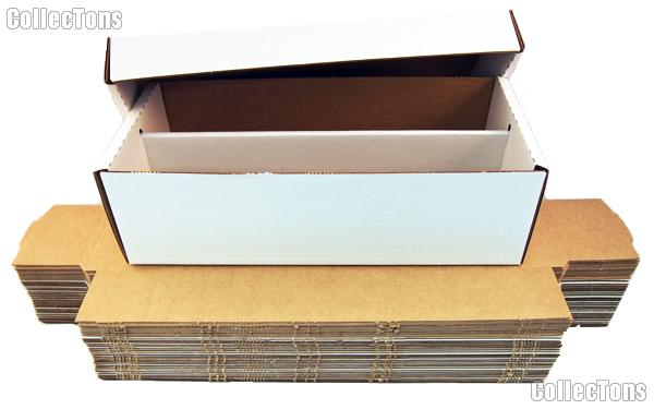 Trading Cards Storage Box 1600 Count BUNDLE of 25 by BCW 1600 Count Shoe Cardboard Storage Box