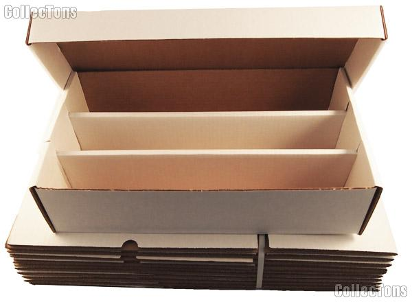 10 Trading Cards Storage Boxes by BCW 3000 Count Super Shoe Cardboard Storage Boxes