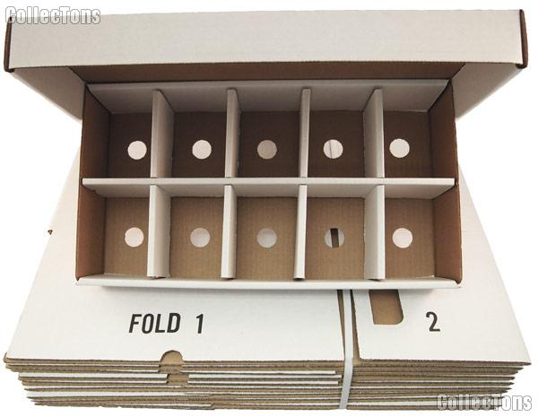 Trading Card SORTING Storage Boxes BUNDLE of 25 by BCW 10 Compartment Cardboard Storage Boxes