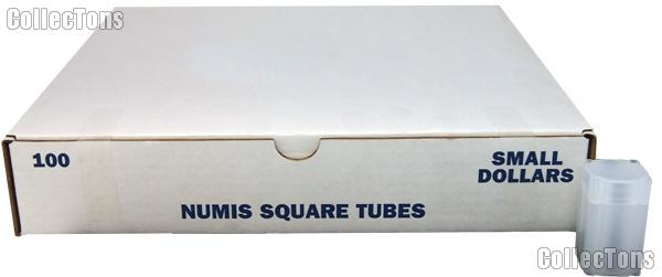 Coin Tube for SMALL DOLLARS by Numis Square Plastic Coin Tube for 25 Small Dollars