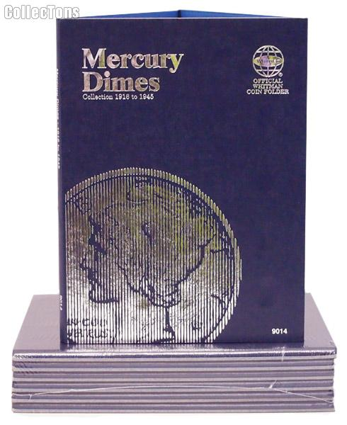 Whitman Mercury Dimes 1916-1945 Folder 9014