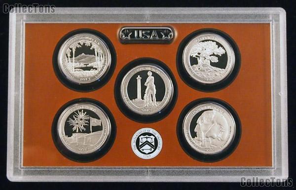 2013 National Parks Quarter Proof Set - 5 Coins