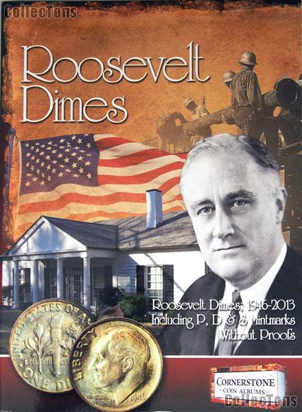 Roosevelt Dime Album by Cornerstone P D & S no Proofs