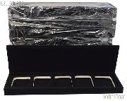 Velvet Coin Display Box for 5 Certified Slab Coins