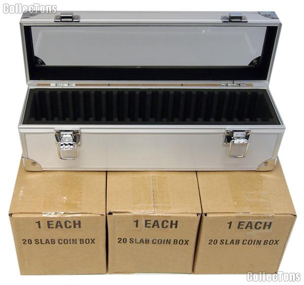 Aluminum Storage Box for 20 Universal Coin Slab Holders