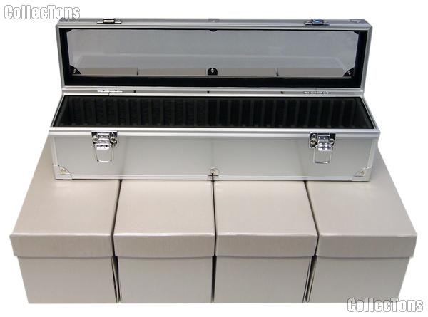 Aluminum Storage Box for 25 Universal Coin Slab Holders
