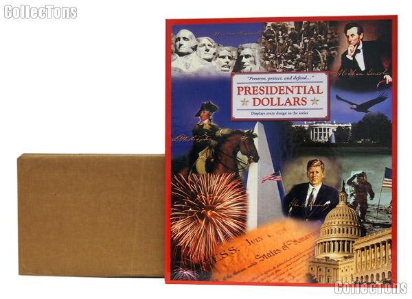 Presidential Dollar Coin Folder by Littleton Deluxe Color Folder for Presidential Dollar Collections LMF2