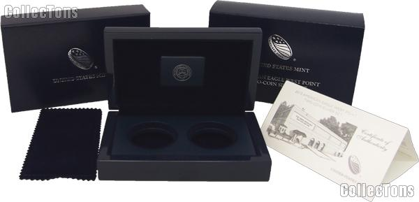2013 American Eagle West Point Two-Coin Silver Proof Set OGP Replacement Box and COA