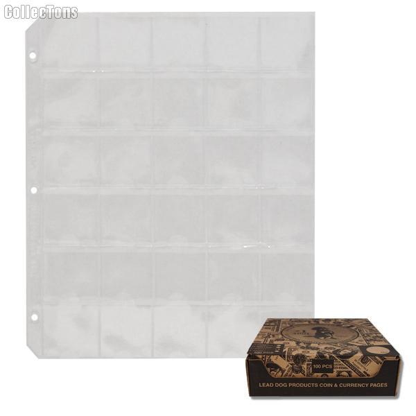 100 Vinyl 30-Pocket Coin Pages for 1.5x1.5 Holders