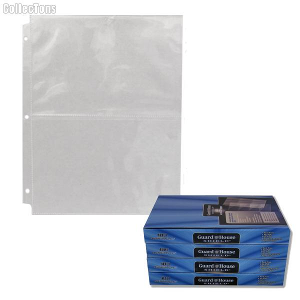2 Pocket Archival Pages by GuardHouse Shield - Box of 100 Pages