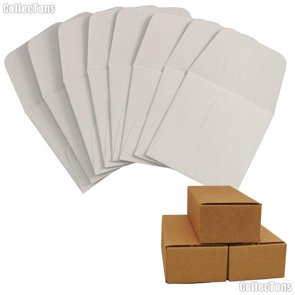 500 2x2 Grey Paper Coin Envelopes for Small Dollars