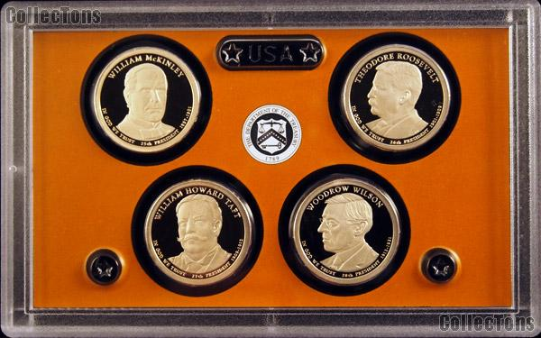 2013 U.S. Mint Presidential Dollar Proof Set - 4 Coins
