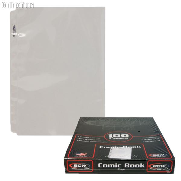 Comic Book Pages by BCW Box of 100 Pro Comic Book Protector Storage Pages