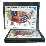Littleton 50 State Quarters Large Display Map LGB1