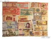 World Currency Starter Set with 20 Bills from 20 Different Countries in Expandable Album