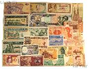 World Currency Starter Set with 24 Bills from 24 Different Countries in Dansco Album