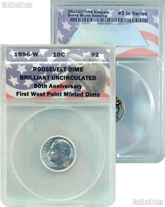 CollecTons Keepers #2: 1996-W Roosevelt Dime Certified in Exclusive ANACS Brilliant Uncirculated Holder