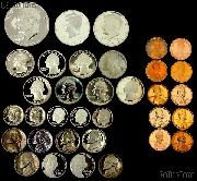 $5 Face Value - Cent to Dollar All Denominations 35 Proof Coin Lot