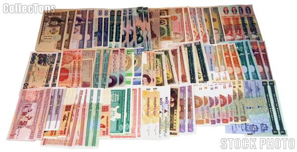 Mixed World Currency 100 Foreign Notes