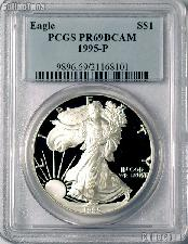 1995-P American Silver Eagle Dollar PROOF in PCGS PR 69 DCAM