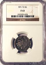 1917-S Buffalo Nickel in NGC F 12