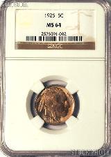 1925 Buffalo Nickel in NGC MS 64