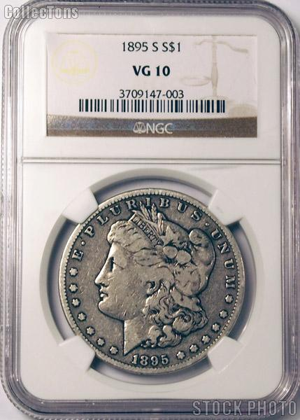 1895-S Morgan Silver Dollar KEY DATE in NGC VG 10