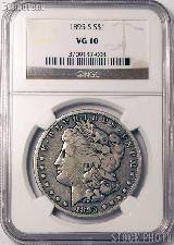1895-S Morgan Silver Dollar KEY DATE in NGC VG 10