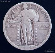 1924 Standing Liberty Silver Quarter Circulated Coin G 4 or Better