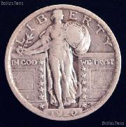 1920 Standing Liberty Silver Quarter Circulated Coin G 4 or Better