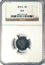 1896-S Barber Liberty Head Silver Dime KEY DATE in NGC G 6