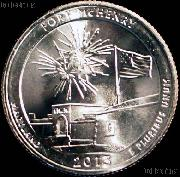 2013-D  Maryland Fort McHenry National Monument and Historic Shrine  National Park Quarter GEM BU America the Beautiful