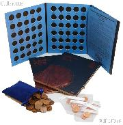 Lincoln Cents Coin Collecting Starter Set with Folders and Coins