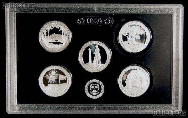 2013 National Parks SILVER Quarter Proof Set - 5 Coins