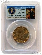 2007 Washington Presidential Dollar Missing Edge Lettering Mint Error Coin in Presidential Series PCGS MS 64
