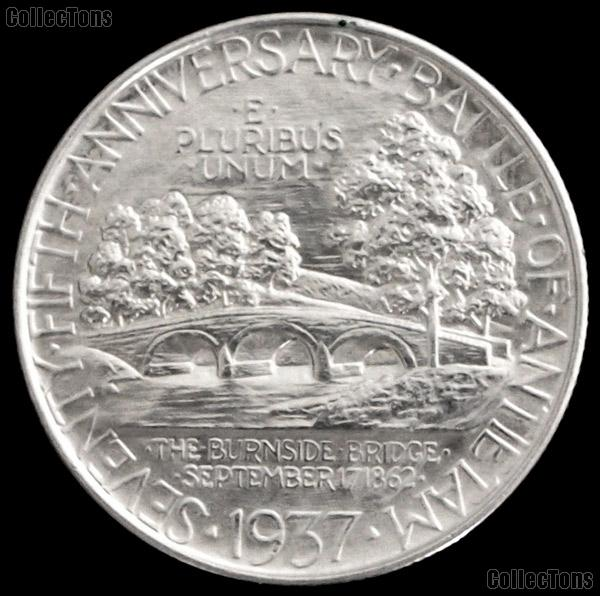 Battle of Antietam Anniversary Silver Commemorative Half Dollar (1937) in XF+ Condition