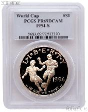 1994-S World Cup USA Commemorative Proof Silver Dollar in PCGS PR 69 DCAM