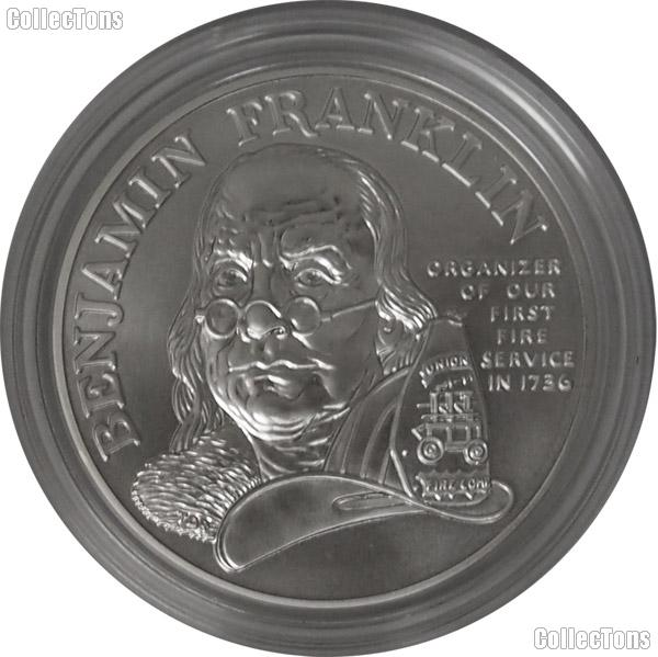 1993 P Commemorative Benjamin Franklin Firefighters Silver Medal Proof
