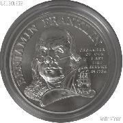 Ben Franklin Firefighters UNCIRCULATED 1 Oz Silver Medal 1992-P