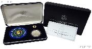 1997 National Law Enforcement Officers Memorial Commemorative Insignia Set (Patch, Pin, Proof Silver Dollar)