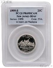 1999-S New Jersey PROOF Silver State Quarter in PCGS PR 69 DCAM