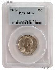 1941-S Washington Quarter in PCGS MS 64