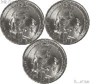 2013 P, D, & S South Dakota Mount Rushmore Memorial National Park Quarters GEM BU America the Beautiful