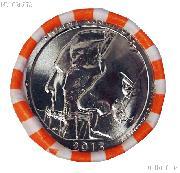 2013-D South Dakota Mount Rushmore Memorial National Park Quarters Bank Wrapped Roll 40 Coins GEM BU