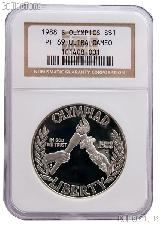 1988-S Seoul Olympiad US Olympic Commemorative Proof Silver Dollar in NGC PF 69 Ultra Cameo